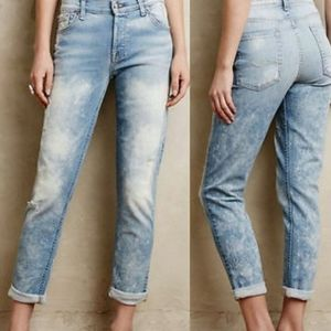 7 FOR ALL MANKIND GREAT ACID DISTRESS SKINNY JEANS